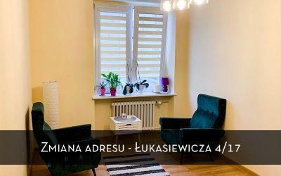 Zmiana adresu na ul. Łukasiewicza